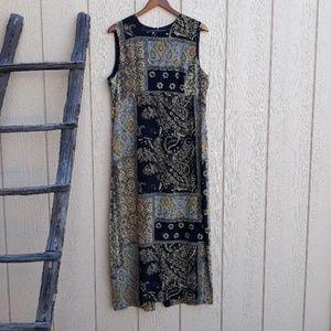 Liz Claiborne Silk Sleeveless Print Shift Dress 16